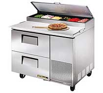 True Drawered Pizza Prep Unit TPP-44D-2