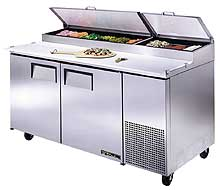 Pizza Prep Table Refrigerator TPP-67
