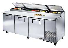 Pizza Prep Table Refrigerator TPP-93 - 3 Doors