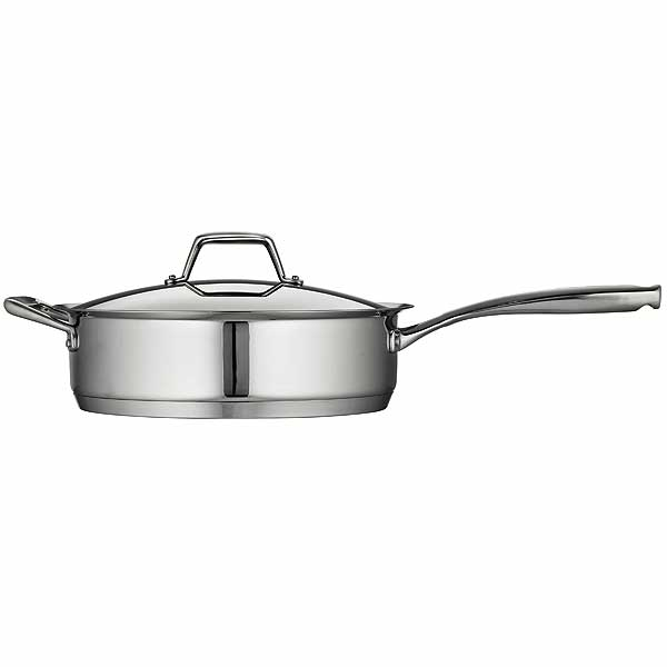 Tramontina Prima Stainless Steel Covered Deep Saute Pan