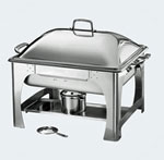 6 Quart Rectangular Chafing Dish With Dome Lid