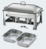 9 Quart Rectangular Chafing Dish With Dome Lid