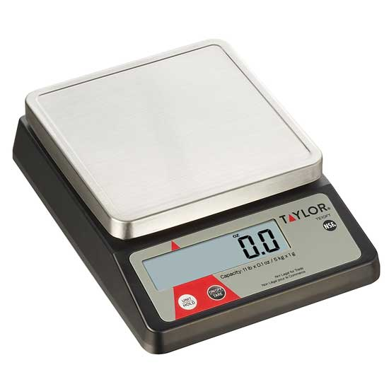 Taylor Digital Portion Control Scale TE10FT, 11 Lb. x 0.1 Oz.