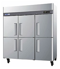 Turbo Air Six Half Door Reach-In Refrigerator