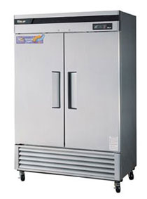 Turbo Air Super Deluxe Stainless Steel Two Door Refrigerator