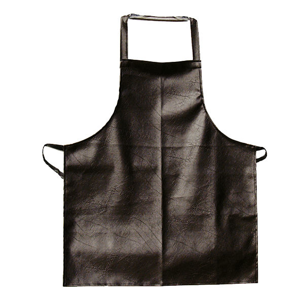 Update International Dishwasher Vinyl Bib Apron, Brown Leatherette Finish - APV-2641HD