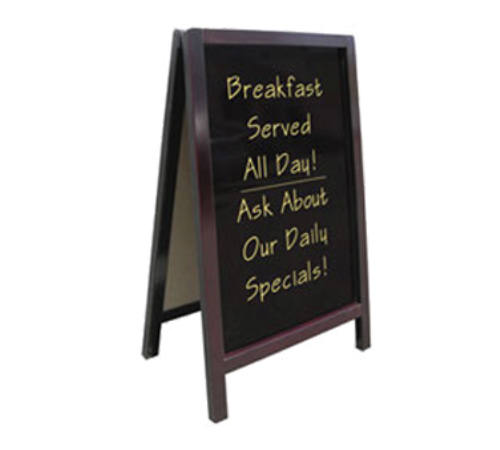 "Update International ""A"" Style Wooden Chalkboard Sign"