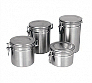 Stainless Steel Storage Canisters With Stainless Lid