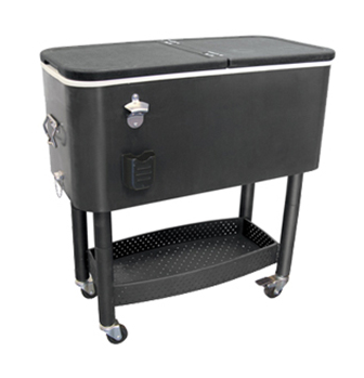 Cooler Cart With Steel Bottle Opener & Cap Catcher - CC-65B