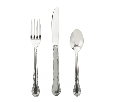 Claridge Medium Weight Chrome Plated Steel Flatware By The Dozen