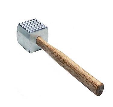 Meat Tenderizer With Wood Handle - MT-AL