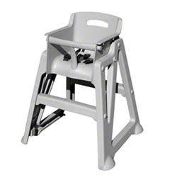 Stackable Restaurant High Chair With Optional Tray