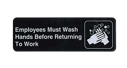 Employees Must Wash Hands Sign - S39-25BK