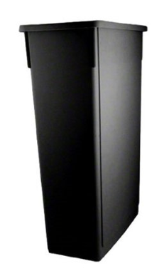 Slim Jim Space Saver Trash Can - SSC-23BK