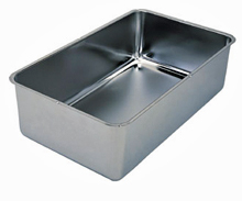 Stainless Steel Water Pan, Spillage Pan, 6-1/4 Inch Deep
