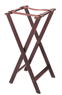 Folding Tray Stand, Cherry Wood Finish