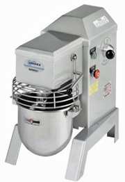 Univex 8 Quart Countertop Dough Mixer With Batter Beater, Wire Whip And Dough Hook