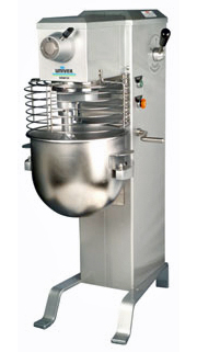 Univex 20 Quart Floor Dough Mixer With Batter Beater, Wire Whip And Dough Hook - SRMF20