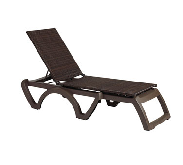 Grosfillex Java All-Weather Wicker Poolside Chaise