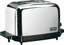 Waring Chrome 2 Slice Capacity Commercial Toaster, Pop Up Model WCT702
