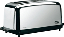 Waring Chrome 4 Slice Capacity Commercial Toaster, Pop Up Model WCT704