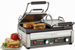 Waring Tostato Ottimo Flat Surface Dual Panini Grill - WFG300