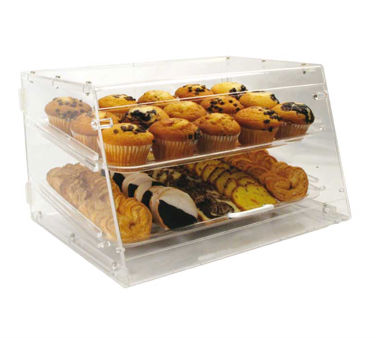 Winco ADC-2 Countertop Pastry Display Case, 2 Trays