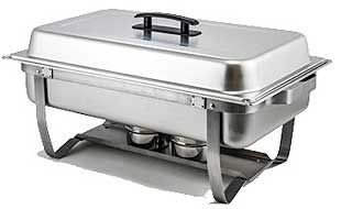 Winware 8 Quart Full Size Chafing Dish With Folding Stand - C-4080