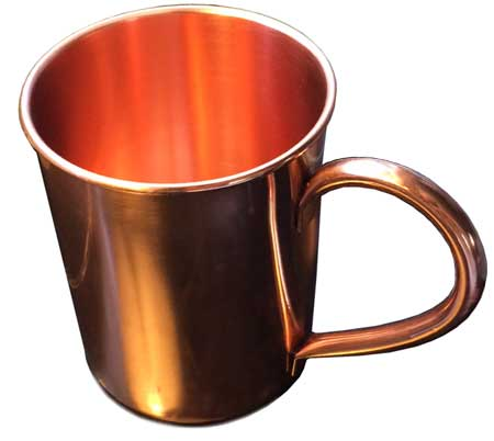 Solid Copper Moscow Mule Mug, 16 Ounce Lacquer Finish