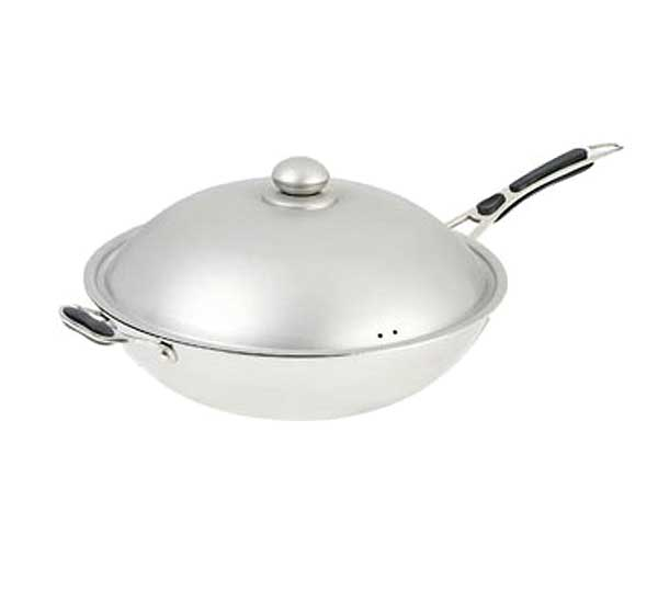 """Adcraft Induction Wok 14-1/4"""" overall dia. (9-1/2"""" bottom dia.) - IND-WOK"""