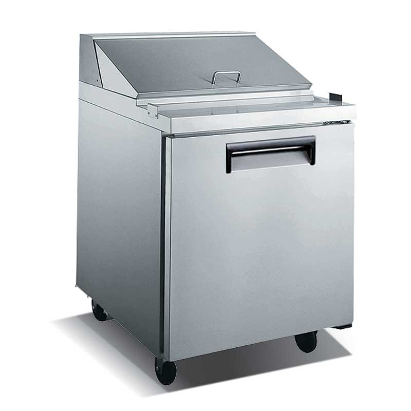 """Adcraft U-STAR Salad/Sandwich Refrigerated Prep Table 27"""" wide one-section - USSL-1D"""