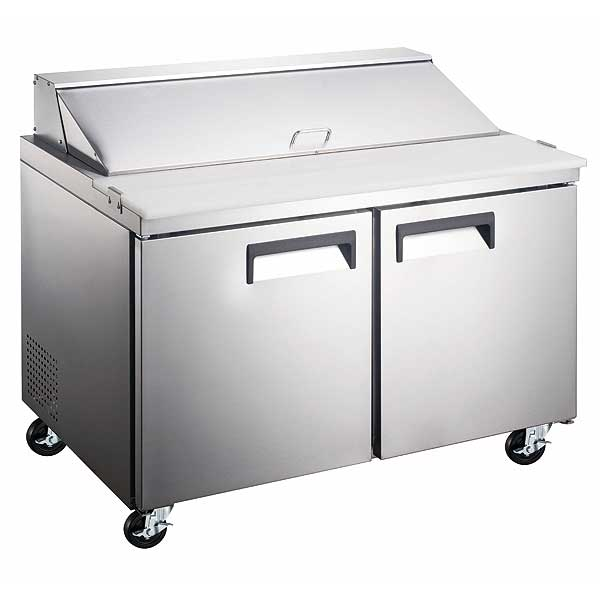 Adcraft Grista Refrigerated Salad/Sandwich Prep Table two-section - GRSL-2D/60