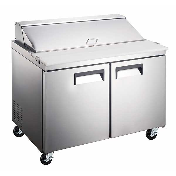 Adcraft Grista Refrigerated Salad/Sandwich Prep Table two-section - GRSL-2D