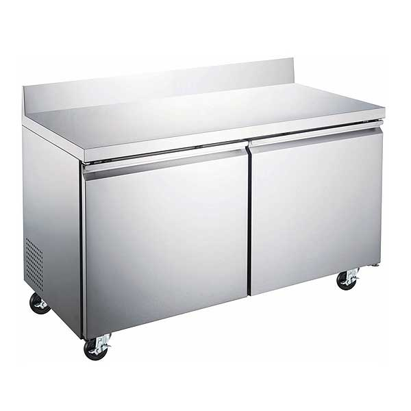 """Adcraft U-STAR Freezer Work Top Counter 47.2"""" W x 29.5"""" D x 38.75"""" H overall size - USWF-2D"""