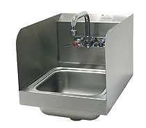 Commercial Space Saver Hand Sink with Side Splashes - 7-PS-56