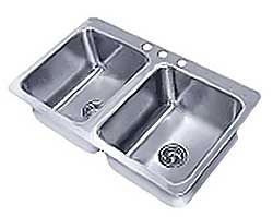 Advance Tabco Smart Series Two-Compartment Drop-In Sink - SS-2-3321-10