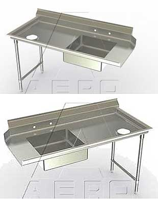 Aerospec Soiled Straight Dishtables - 2SD Models
