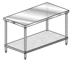Aero 3TG Deluxe Stainless Tables with Galvanized Undershelves