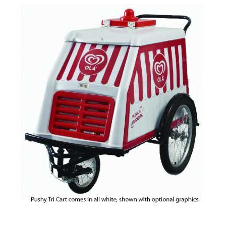 Alamo Fricon Pushy Tri Cart Concession Freezer