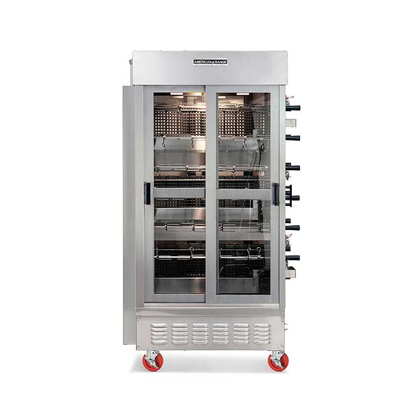 American Range Gas Rotisserie Oven Gas (7) Spits & (3) Burners - ACB-7