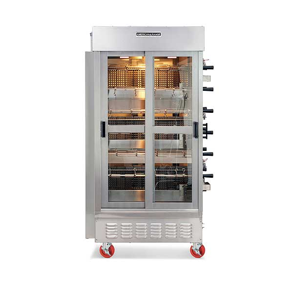 American Range Gas Rotisserie Oven (14) Spits & (3) Burners - ACB-14