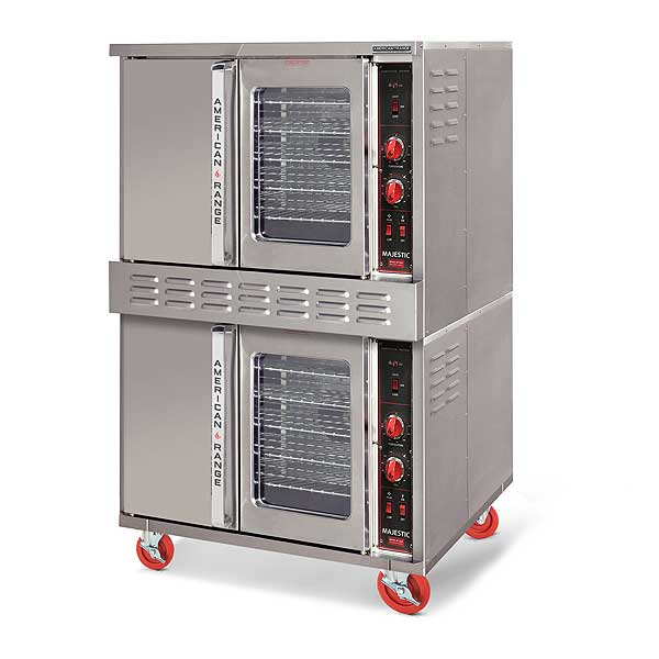 American Range Majestic Convection Oven Double-deck Gas - with One Glass Door - MSD-2-GL