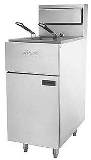 Anets Silverline 14 Inch Gas Fryer SLG40