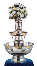 Royalty Princess Stainless Fountain with Lights, Trim and Waterfall