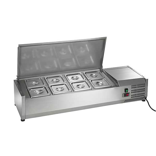 """Arctic Air Refrigerated Counter-Top Prep Unit 47-1/4""""W Includes (8) 1/6 Stainless Pans - ACP48"""