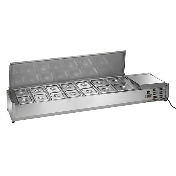 """Arctic Air Refrigerated Counter-Top Prep Unit 63""""W Includes (14) 1/6 Stainless Pans - ACP63"""