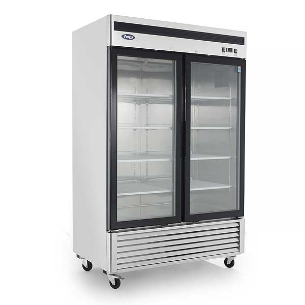 "Atosa Refrigerator Merchandiser Two-section 54.41""W X 31.5""D X 84.06""H - MCF8707GR"