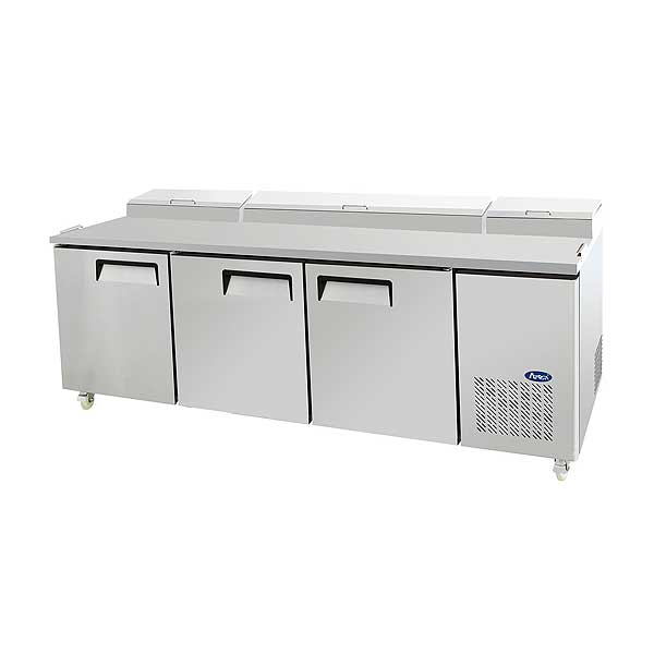 Atosa Refrigerated Pizza Prep Table Three-section - MPF8203GR