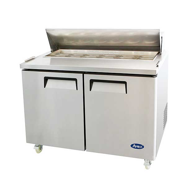 """Atosa Sandwich/Salad Top Refrigerator Two-section 48-1/4""""W X 30""""D X 44-1/4""""H - MSF8302GR"""