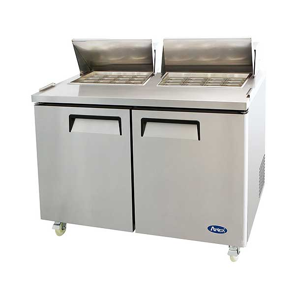 Atosa Sandwich/Salad Mega Top Refrigerator Two-section - MSF8307GR